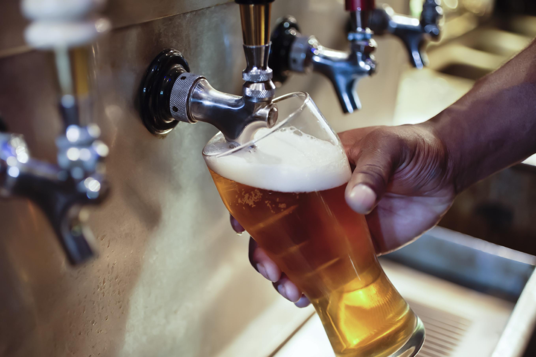 Beer being served
